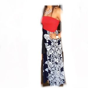 Beautiful Strapless Maxi Dress
